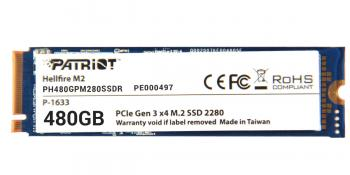 Твердотельный накопитель M.2 480GB Patriot Hellfire Read 2700Mb/s Write 2200Mb/s PCI-E PH480GPM280SSDR