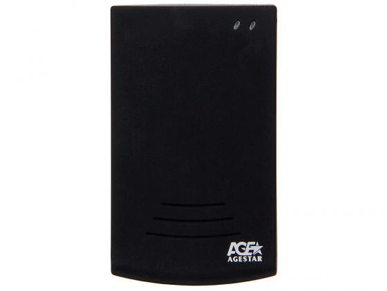 Внешний контейнер для HDD 2.5 SATA AgeStar SUB2O5 USB 2.0 черный адаптер переходник agestar usb 2 0 2 5 3 5 5 25 ide sata fubca серебристый внешний блок питания