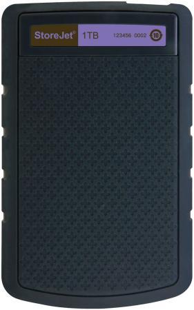 """Внешний жесткий диск 2.5"""" USB3.0 1 Tb Transcend StoreJet 25H TS1TSJ25H3P черный/фиолетовый"""