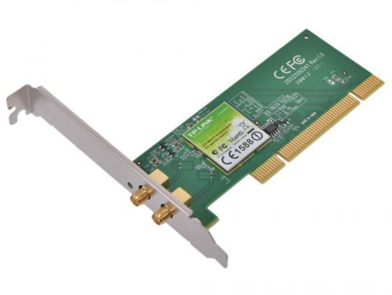 Купить Беспроводной PCI адаптер TP-LINK TL-WN851ND 802.11n 300Mbps 2.4ГГц 20dBm Wi-Fi адаптеры