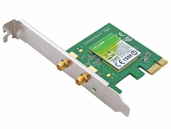 Купить Беспроводной PCI-E адаптер TP-LINK TL-WN881ND 802.11n 300Mbps 2.4ГГц 20dBm Wi-Fi адаптеры