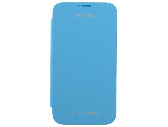 Купить Чехол-книжка Samsung EFC-1J9FBEGSTD Flip Cover Blue для GT-N7100 Galaxy Note 2 синий Чехлы для телефонов