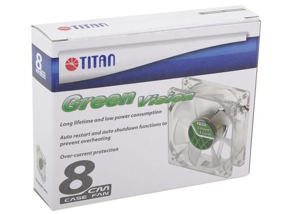 Вентилятор Titan TFD-8025GT12Z(RB) Green Vision 80mm 1400rpm вентилятор titan tfd 12025gt12z 120 мм green vision