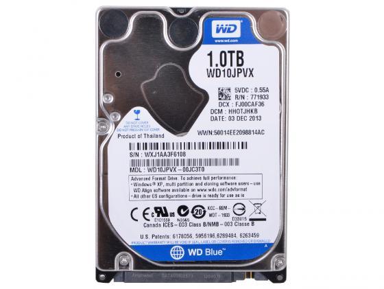 Жесткий диск для ноутбука 2.5 1 Tb 5400rpm 8Mb cache Western Digital WD Scorpio Blue SATAIII WD10JPVX жесткий диск 3 5 8 tb 5400rpm 128mb cache western digital purple sataiii wd80purz