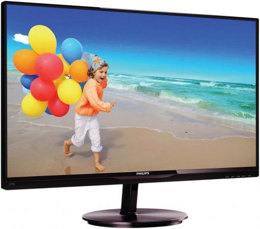 Монитор 27 Philips 274E5QSB/0001 черный красный AH-IPS 1920x1080 250 cd/m^2 14 ms DVI VGA монитор 23 philips 234e5qsb 01 черный ah ips 1920x1080 250 cd m^2 14 ms vga dvi