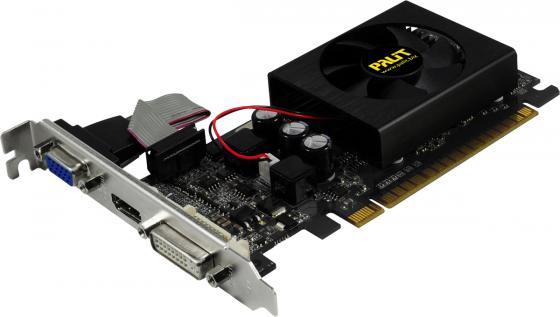 Видеокарта 2048Mb Palit GeForce GT610 TC PCI-E DDR3 64bit DVI HDMI CRT OEM nvidia geforce gt610 gf119 2048mb 64 bit ddr3 pci express x16 graphic card black
