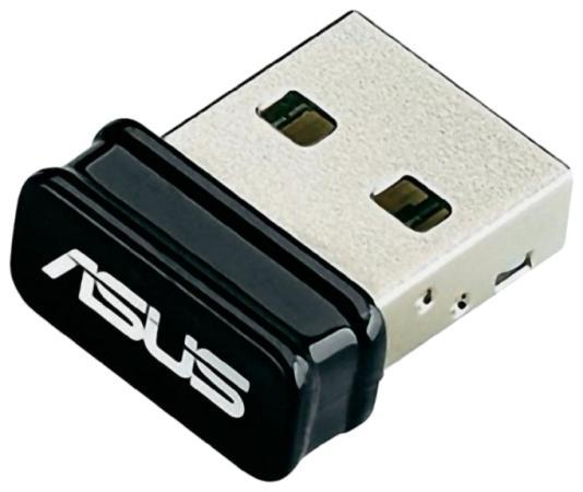 Купить Беспроводной USB адаптер ASUS USB-N10 NANO 802.11n 150Mbps 2.4ГГц Wi-Fi адаптеры