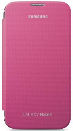 Купить Чехол-книжка Samsung EFC-1J9FPEGSTD Flip Cover для GT-N7100 Galaxy Note 2 розовый Чехлы для телефонов
