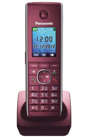 Дополнительная трубка DECT Panasonic KX-TGA855RUR красный к телефонам серии KX-TG85хx panasonic kx tg8061 rub dect телефон