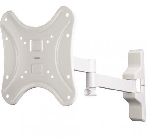 Купить Кронштейн HAMA H-108741 L белый для ЖК ТВ до 42 настенный VESA 200x200 max 25 кг Кронштейны для телевизоров