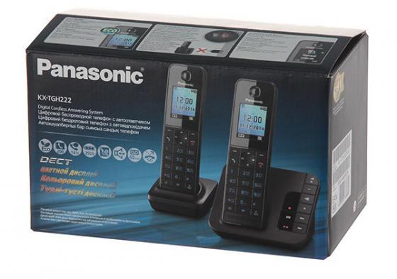 Радиотелефон DECT Panasonic KX-TGH222RUB черный panasonic kx tg8061 rub dect телефон