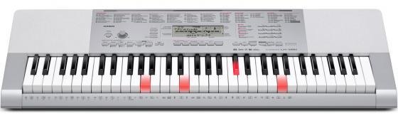Синтезатор Casio LK-280 61 клавиша USB AUX серебристый casio lk 280