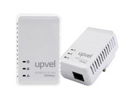 Купить Комплект Powerline адаптеров Upvel UA-251PK HomePlug AV 500 Мбит/с с поддержкой IP-TV 1LAN порт Сетевые карты