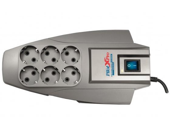 Купить Сетевой фильтр ZIS Pilot X-Pro 6 розеток 1.8 м серый Сетевые фильтры
