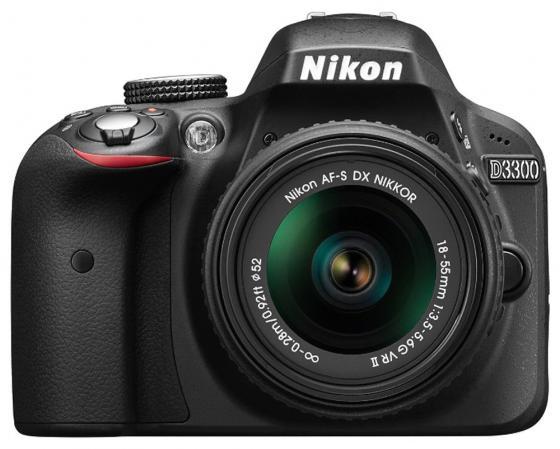 Зеркальная фотокамера Nikon D3300 Kit 18-105 VR 24.2Mp черный