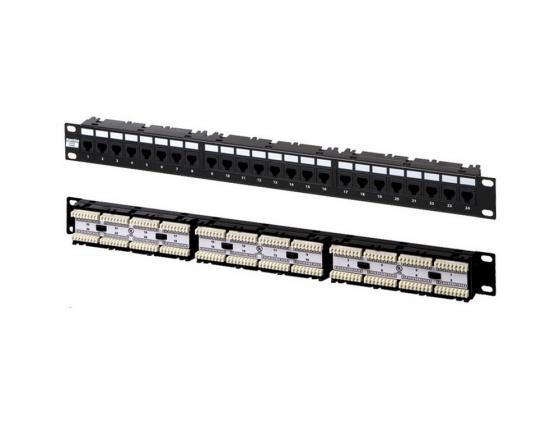 Купить Патч-панель Hyperline PP-19-24-6P4C-C2 19 , 1U, 24 порта RJ-12 Патч-панели
