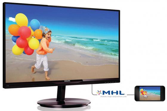Монитор 21.5 Philips 224E5QHSB черный AH-IPS 1920x1080 250 cd/m^2 5 ms HDMI VGA Аудио монитор 23 philips 234e5qsb 01 черный ah ips 1920x1080 250 cd m^2 14 ms vga dvi