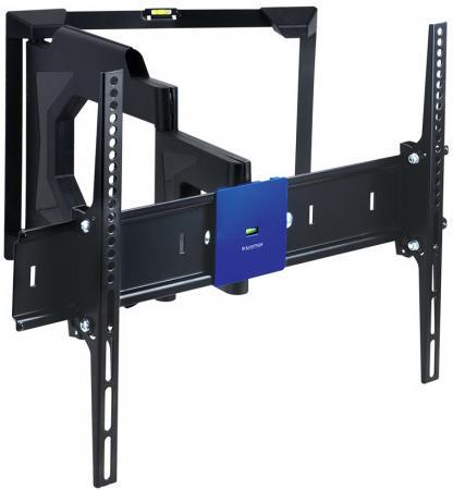 Купить Кронштейн Kromax LEDAS-80 черный до 32 -65 настенный от стены 80-580мм наклон ±12° поворот 180° VESA 600х400мм до 45кг Кронштейны для телевизоров
