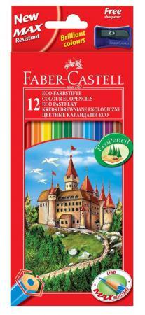 Купить Карандаши цветные Faber-Castell Eco Замок с точилкой 12 шт 120112 Карандаши