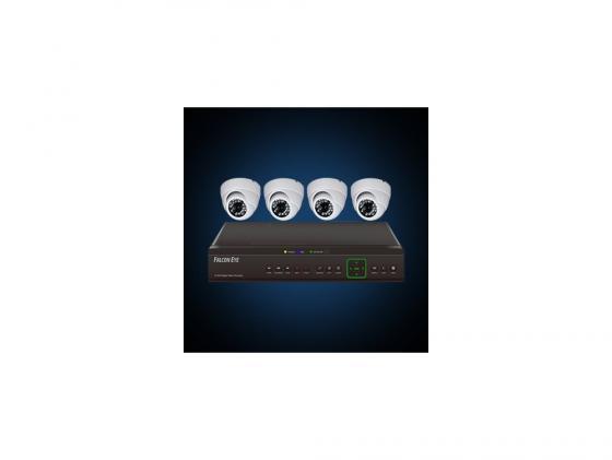 Купить Комплект видеонаблюдения Falcon Eye FE-104D-KIT Дом 4 уличные камеры 4-х канальный видеорегистратор установочный комплект Камеры видеонаблюдения