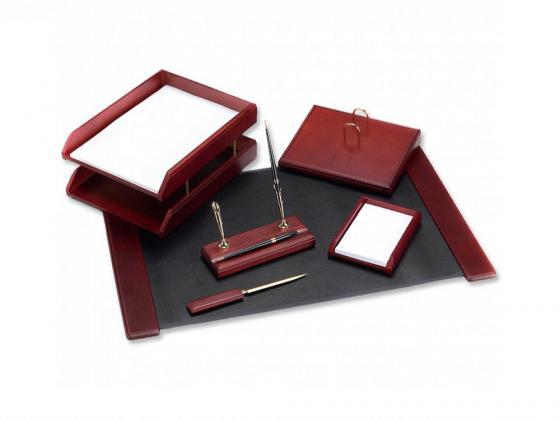 Купить Настольный набор Good Sunrise 6 предметов красное дерево темный оттенок M6C-7A Набор канцелярских товаров