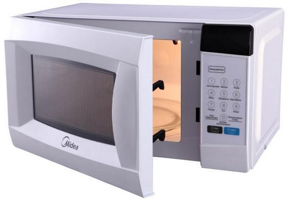 Микроволновая печь Midea EM720CKE 700 Вт белый микроволновая печь свч midea em 720 cke