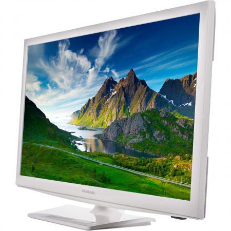 "Телевизор ЖК LED 24"" Samsung UE24H4080AUXRU белый 16:9 1366x768 DVB-T/T2/C/S2 SCART HDMI USB"