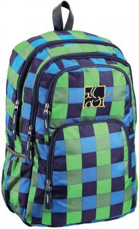 Купить Школьный рюкзак с отделением для ноутбука All Out Kilkenny Pool Check 23 л зеленый голубой черный 00124828 Рюкзаки и сумки