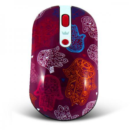 все цены на  Мышь беспроводная Crown CMM-926W hand рисунок USB  онлайн