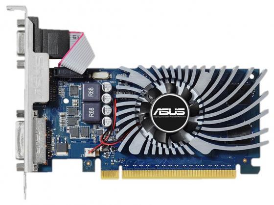 Видеокарта 2048Mb ASUS GeForce GT730 PCI-E 64bit GDDR5 DVI HDMI HDCP GT730-2GD5-BRK Retail видеокарта asus geforce gt 710 2 sl 954mhz pci e 2 0 2048mb 1800mhz 64 bit dvi hdmi hdcp