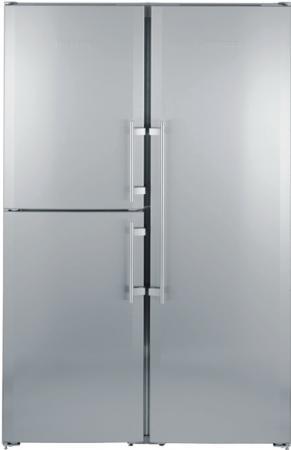 Холодильник Side by Side Liebherr SBSES 7353 серебристый холодильник side by side samsung rs 57 k 4000 sa
