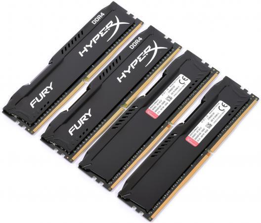 Оперативная память 16Gb (4x4Gb) PC4-17000 2133MHz DDR4 DIMM CL14 Kingston HX421C14FBK4/16