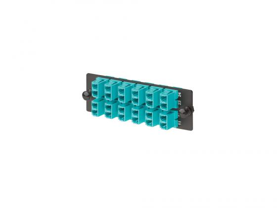 Купить Патч-панель Panduit FAP12WAQDLC 12xLC 10Gig дуплексные втулки из фосфористой бронзы аквамарин Патч-панели