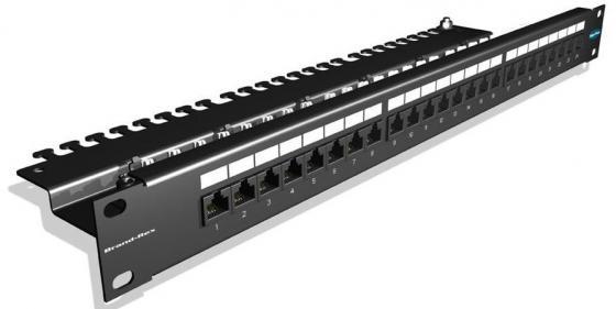 Купить Патч-панель Brand-Rex GPCPNLU24002 угловая 19 1U для установки 24 RJ45 кат.5e UTP Патч-панели