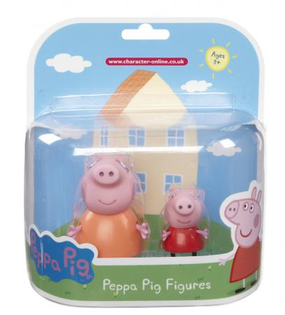 Игровой набор Peppa Pig Семья Пеппы Мама Свинка и Пеппа 2 предмета 20837 игровой набор peppa pig семья пеппы мама свинка и пеппа 2 предмета 20837