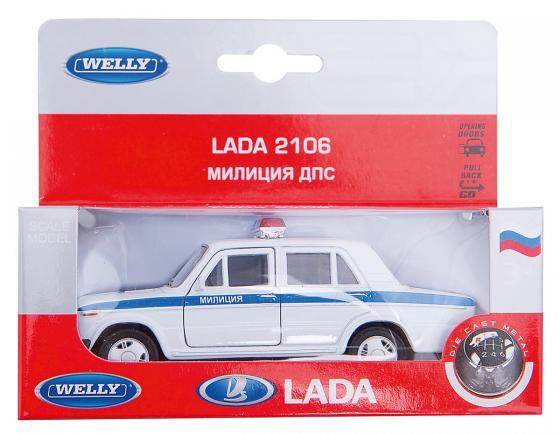 Автомобиль Welly Lada 2106 Милиция ДПС 1:34-39 белый 42381PB авито ру двс 2106 б у