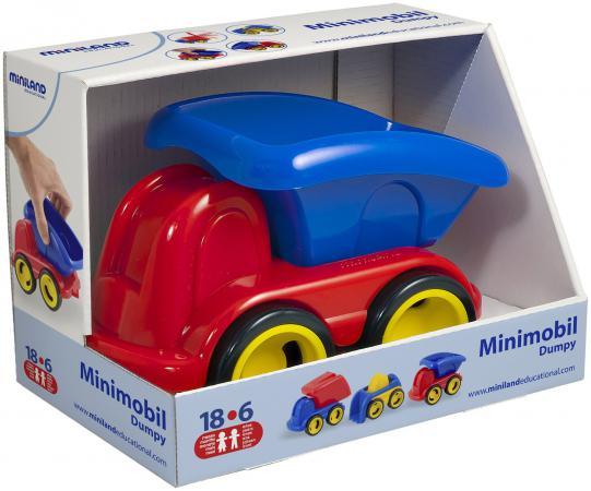 Каталка-машинка Miniland Самосвал пластик от 1 года разноцветный мини машина miniland самосвал