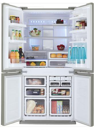 Холодильник Side by Side Sharp SJ-FS97VSL серебристый холодильник side by side samsung rs 57 k 4000 sa
