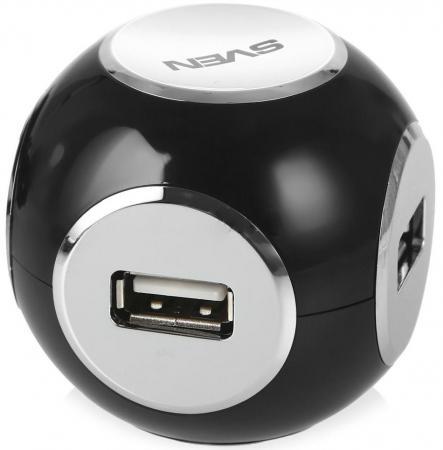 Концентратор USB 2.0 Sven HB-444 4 x USB 2.0 черный