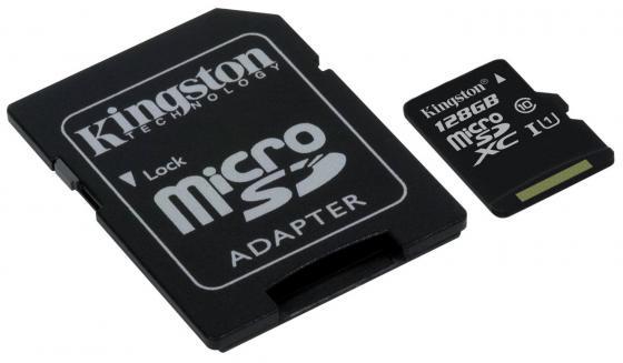 Карта памяти Micro SDXC 128GB Class 10 Kingston SDC10G2/128GB + адаптер карта памяти micro sdxc kingston sda10 512gb