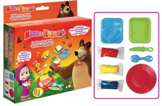 Набор для лепки Росмэн Маша и Медведь Бутербродики 28543 набор для лепки бутербродики маша и медведь