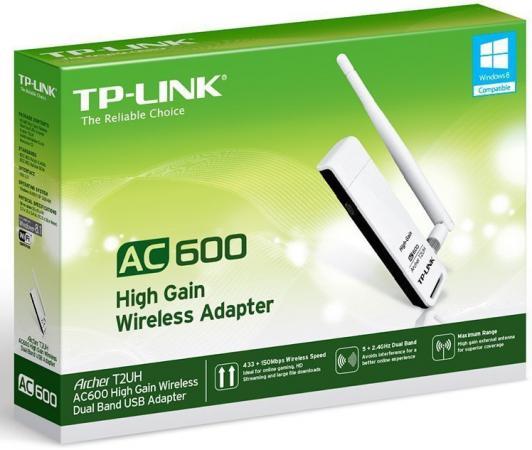 Купить Беспроводной USB адаптер TP-LINK Archer T2UH AC600 802.11a/b/g/n/ac 433Mbps 2.4/5ГГц 20dBm Wi-Fi адаптеры