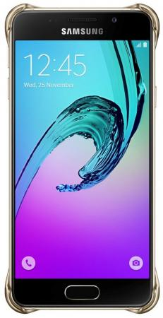 Чехол Samsung EF-QA710CFEGRU для Samsung Galaxy A7 Clear Cover A710 золотистый