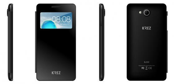 """все цены на  Смартфон KREZ SL502B4 DUO 3G черный 5.5"""" 4 Гб Wi-Fi GPS 3G  онлайн"""