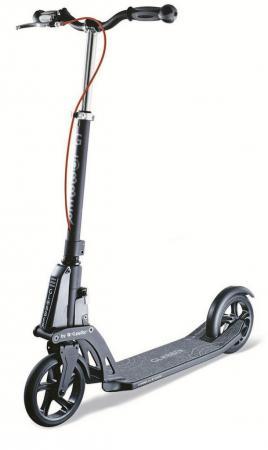 Купить Самокат двухколёсный Y-SCOO Globber My TOO 180 Automatic by Kleefer черный 981807 Двухколесные самокаты для детей