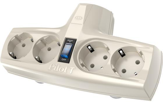 Купить Сетевой фильтр Pilot T 4 4 розетки белый Сетевые фильтры