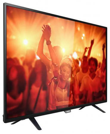 "Телевизор LED 32"" Philips 32PHT4001/60 черный 1366x768 200 Гц USB SCART"