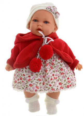 Кукла Munecas Antonio Juan Азалия в красном 27 см со звуком 1220R кукла лана в голубом 27 см antonio juan munecas