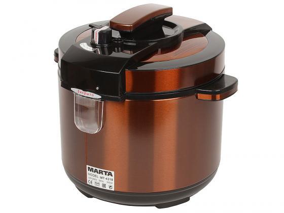 Мультиварка Marta MT-4310 900 Вт 5 л черный медный анализатор водно жирового баланса marta mt 1680