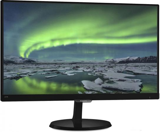 Монитор 23 Philips 237E7QDSB00/01 черный AH-IPS 1920x1080 250 cd/m^2 5 ms DVI HDMI VGA Аудио монитор 23 philips 234e5qsb 01 черный ah ips 1920x1080 250 cd m^2 14 ms vga dvi